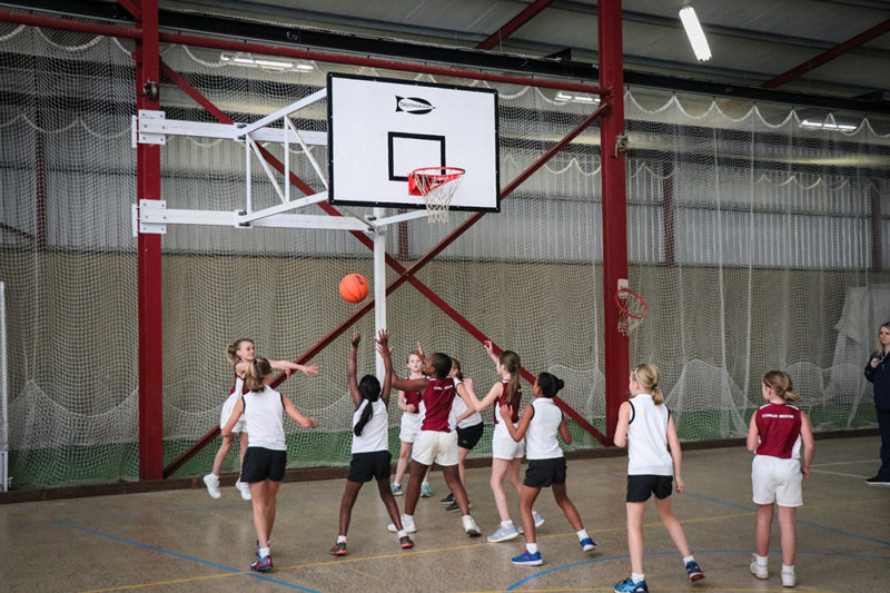 Indoor Centre Basketball Match